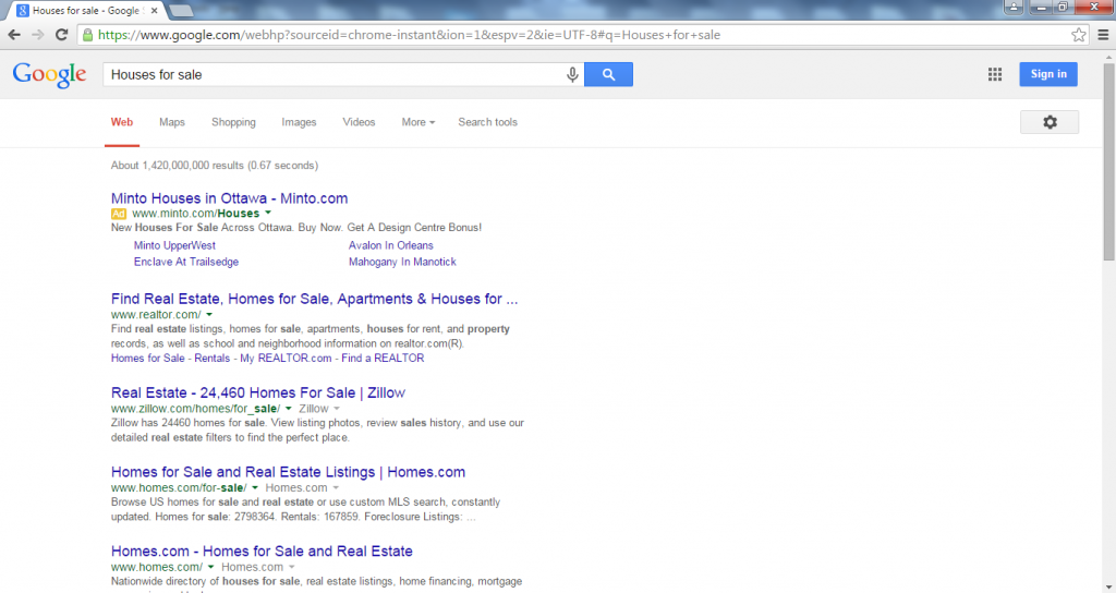 google search query example