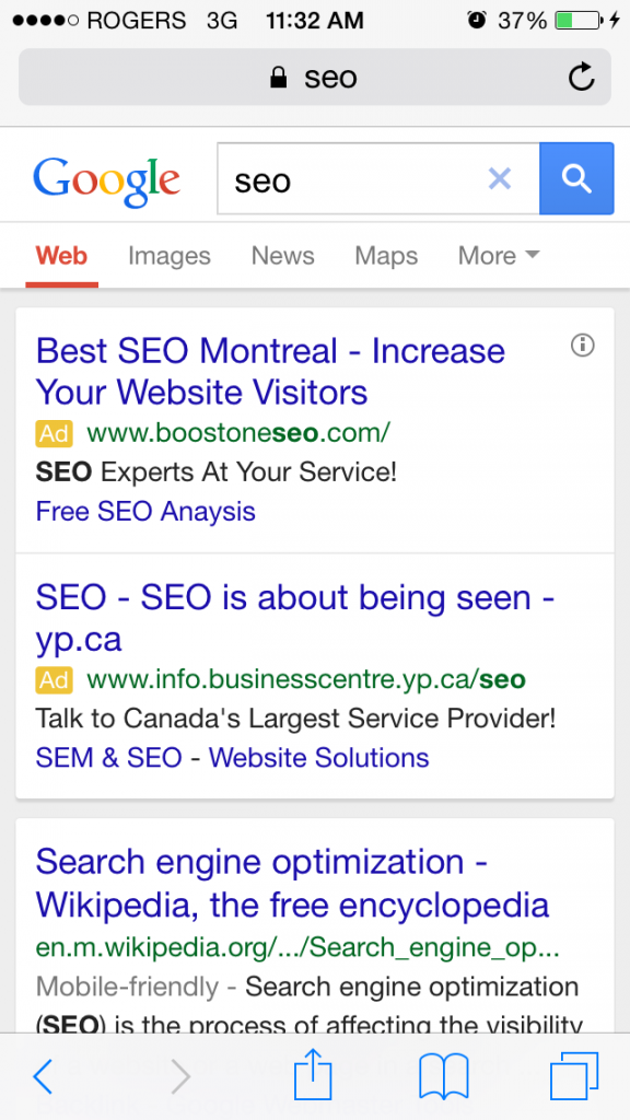 mobile search